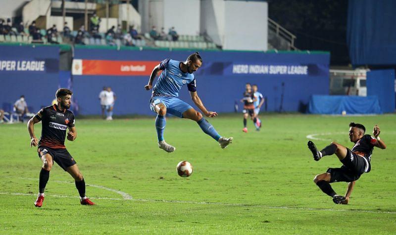 Nerijus Valskis is the leading goal-scorer for Jamshedpur FC with 6 ISL goals this season. (Image: Jamshedpur FC)