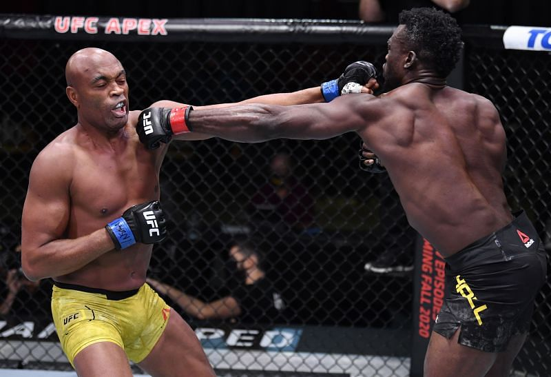 Uriah Hall counterpunches an attack from Anderson Silva