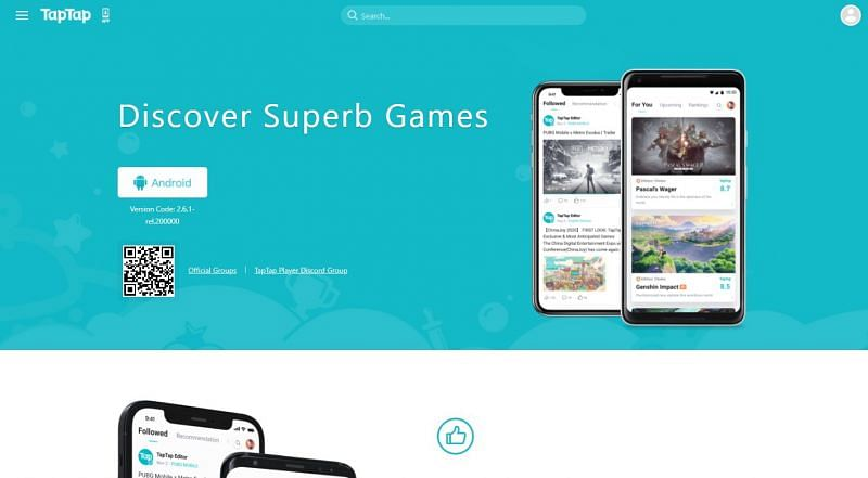 TapTap 웹 사이트