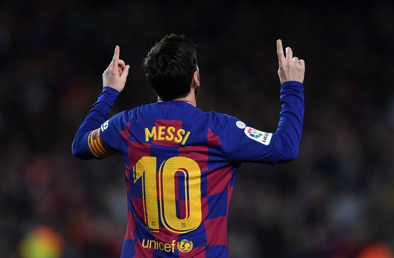 Lionel Messi played his 750th game for Barcelona against Huesca.