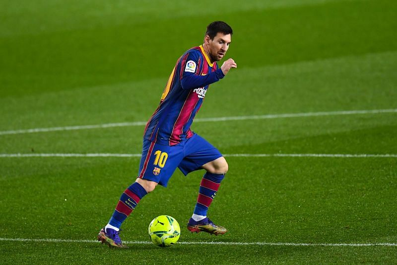 Lionel Messi has left than six months left on his contract and could head to Manchester City