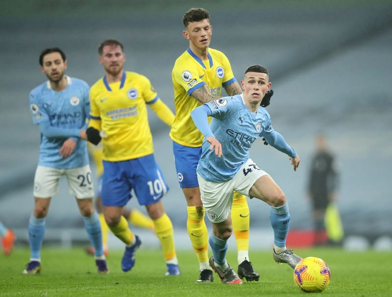 Manchester City defeated Brighton by a solitary goal