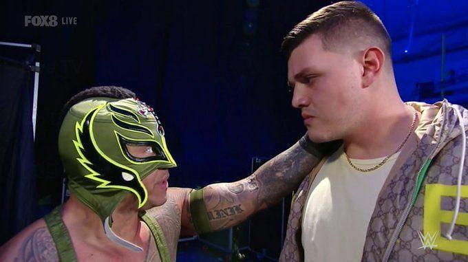 Rey Mysterio to a dejected Dominik