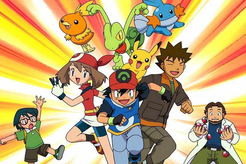 Several characters from the Pokemon anime (Image via The Pokemon Company)