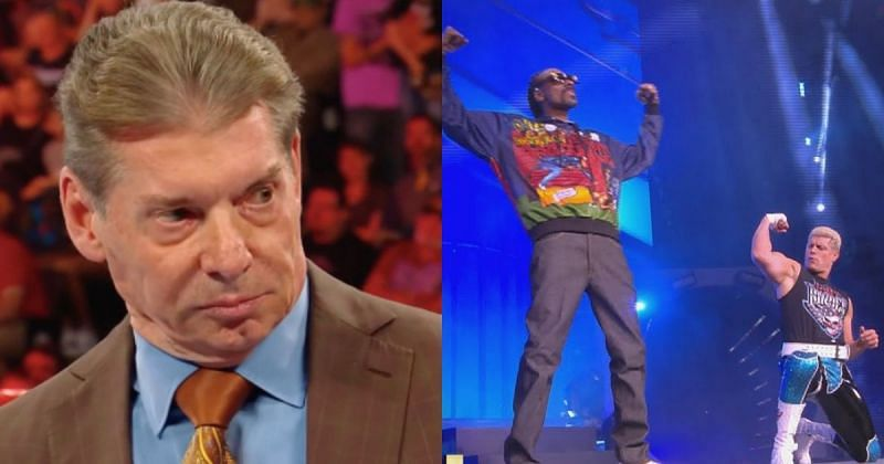 Vince McMahon, Snoop Dogg, and Cody Rhodes.