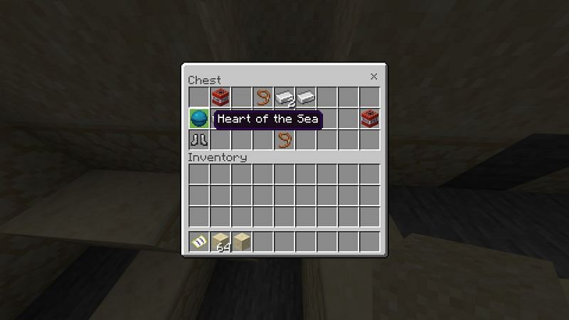 Heart Of the Sea in Chest in Minecraft