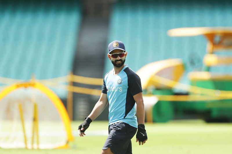 Ajinkya Rahane during a training session at the SCG