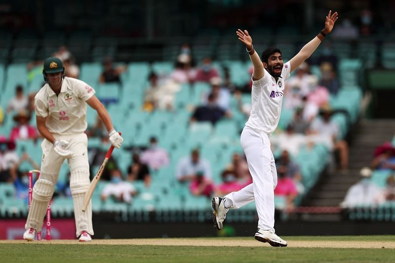 Jasprit Bumrah trapped Cameron Green plumb in front of the wickets.