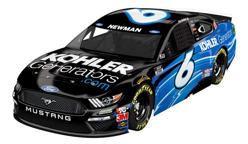 Ryan Newman has an eight-race sponsorship with Kohler Generators (Car graphic courtesy of Roush Fenway Racing)