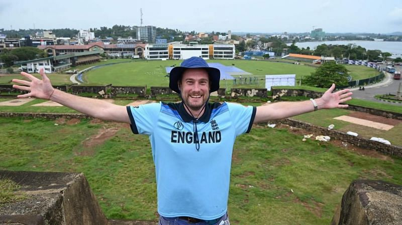 Rob Lewis waited ten months in Sri Lanka to watch the England Cricket Team play