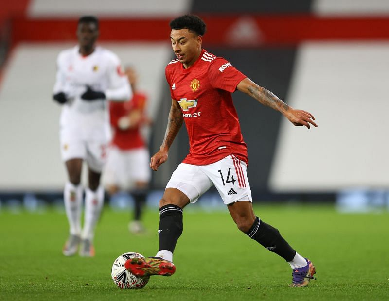 Lingard in action against Watford