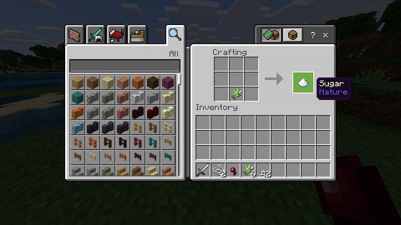 Crafting sugar in Minecraft