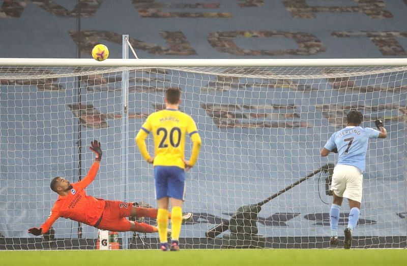 A late penalty miss highlighted Sterling
