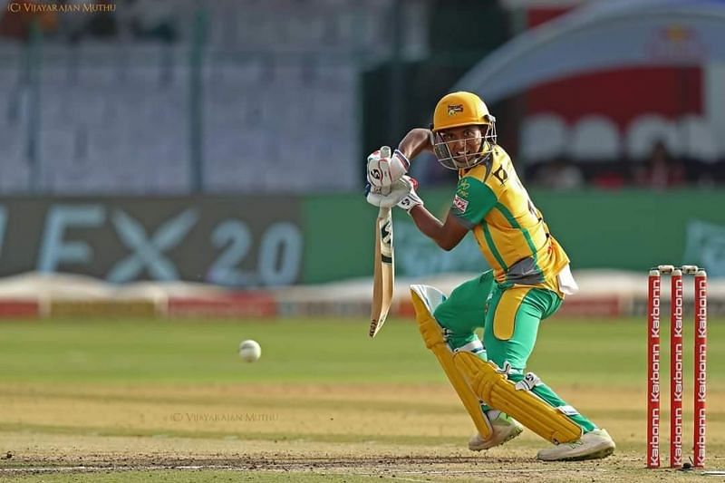 KL Shrijith in action during the KPL