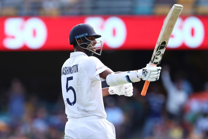 Washington Sundar scored a classy half-century in India