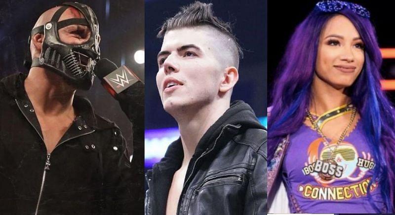T-BAR, Sammy Guevara, and Sasha Banks
