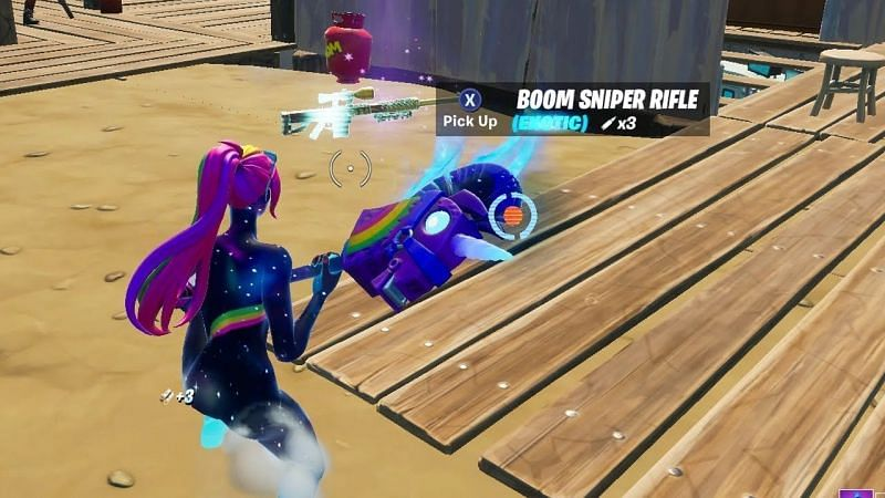 The Boom Sniper Rifle explodes after you hit an opponent with it (Image Credits: GuadaFN)