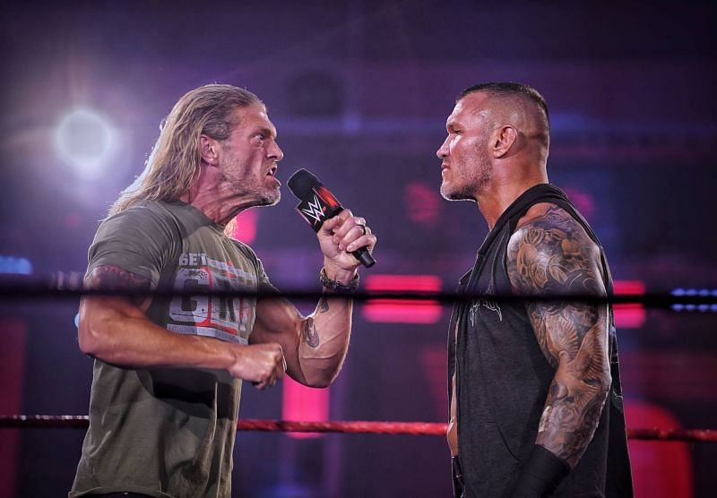 Orton renews his rivalry agains Edge Orton vs Edge at Backlash was advertised as the