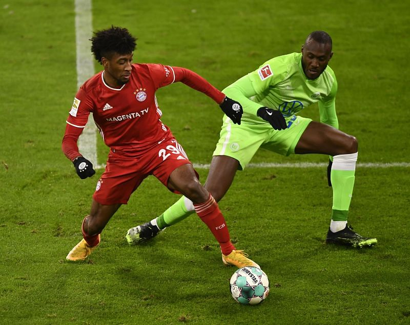 Kingley Coman in action
