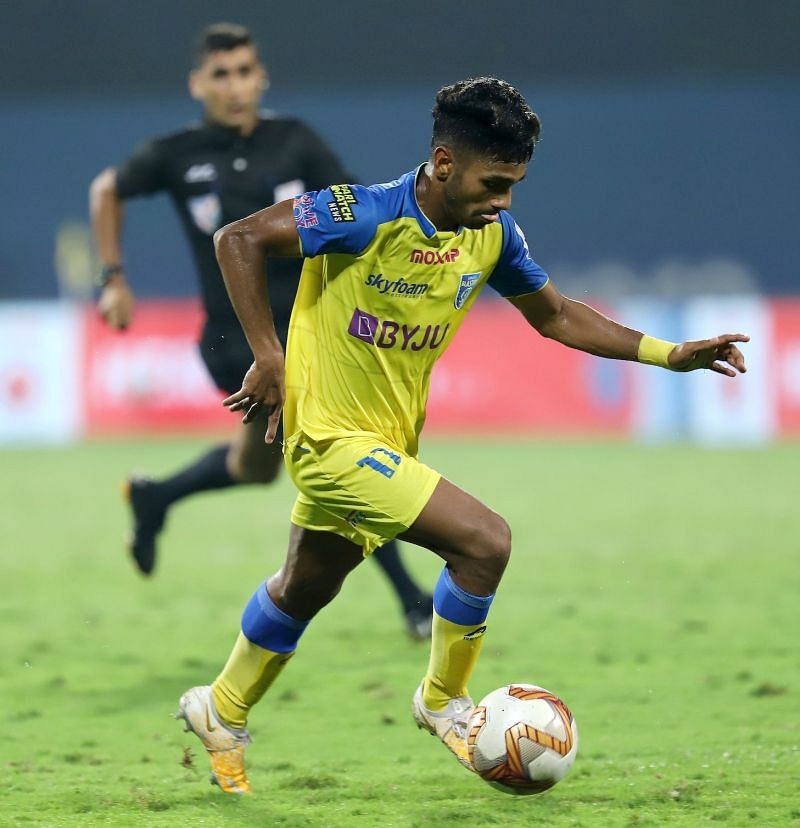Rahul KP scored the second goal of the season for Kerala Blasters against Bengaluru FC in their ISL match (Image Courtesy: ISL Media)