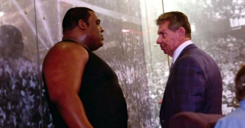 Keith Lee and Vince McMahon.