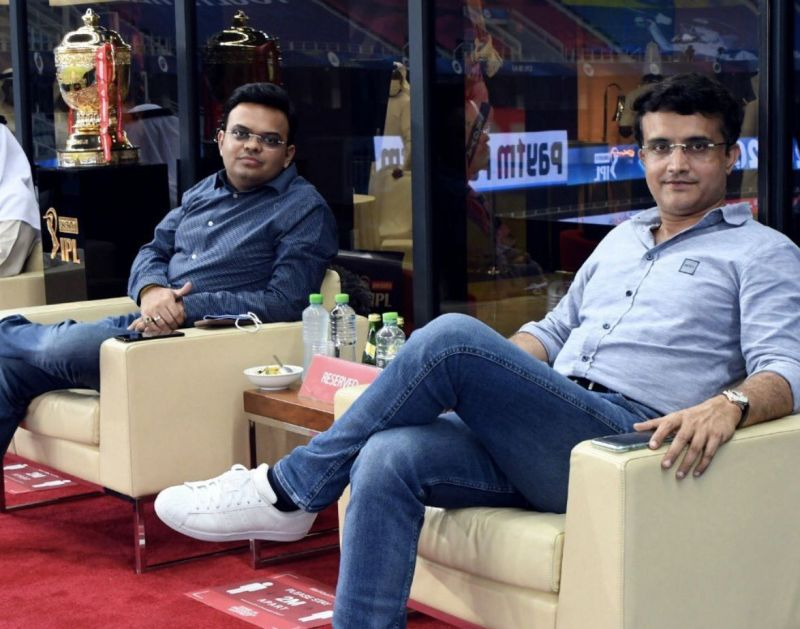 Sourav Ganguly (right) is the BCCI President and Jay Shah is the Board Secretary. (Photo credit: Sourav Ganguly