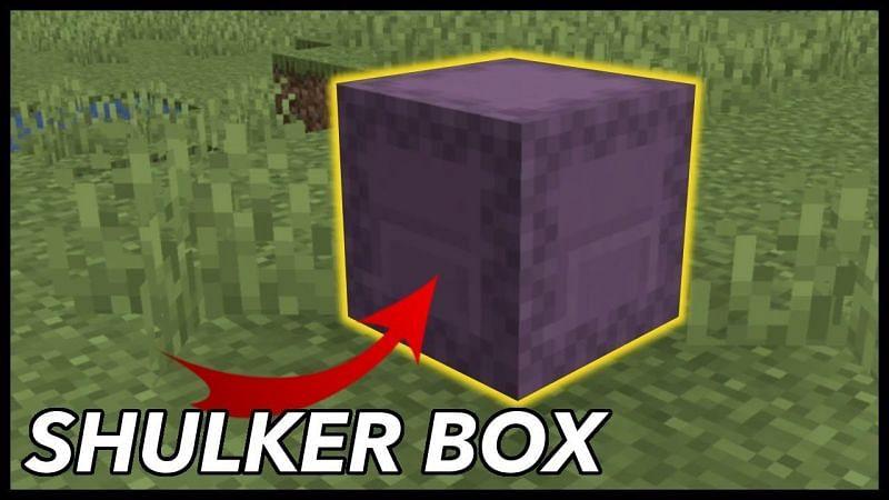 A shulker box in Minecraft. (Image via RajCraft/YouTube)