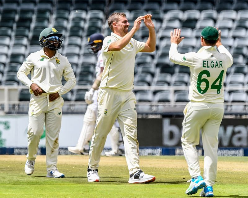 Anrich Nortje took a career-best 6/56 in the first innings for South Africa