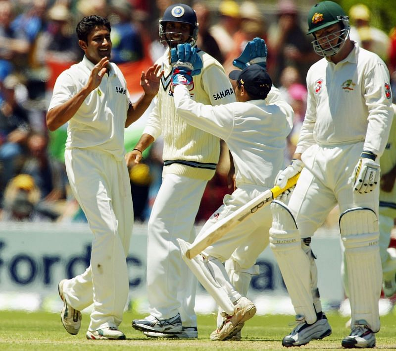 Anil Kumble picked up 8 wickets in Australia