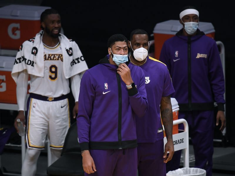 Lebron James led the Los Angeles Lakers to victory in AD