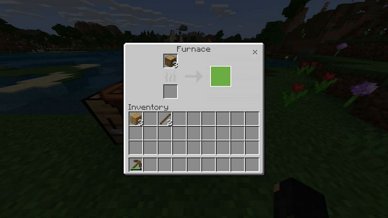 Step 3 for making charcoal in minecraft