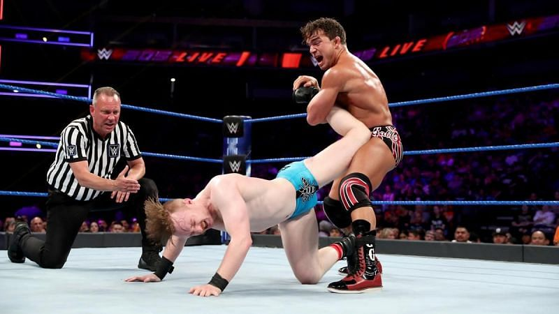 Chad Gable and Gentleman Jack Gallagher in WWE