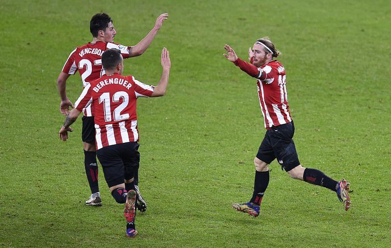 Athletic Bilbao scored a late goal
