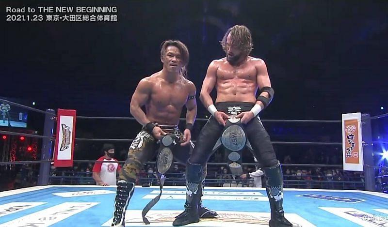 Taiji Ishimori and El Phantasmo are two-time IWGP Jr. Tag Team Champions