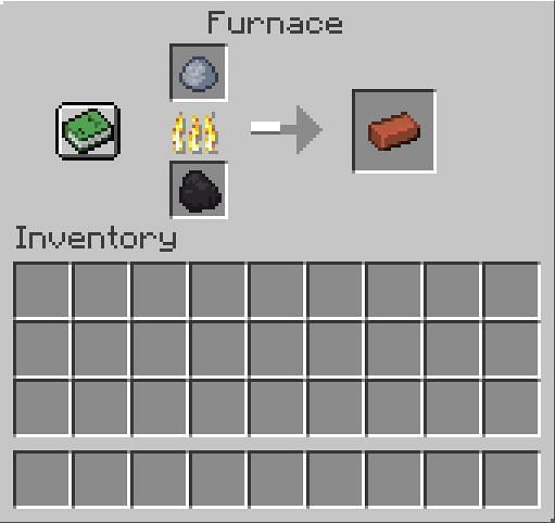 Place the clay in the furnace