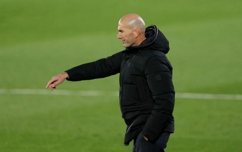 Real Madrid coach Zinedine <a href=
