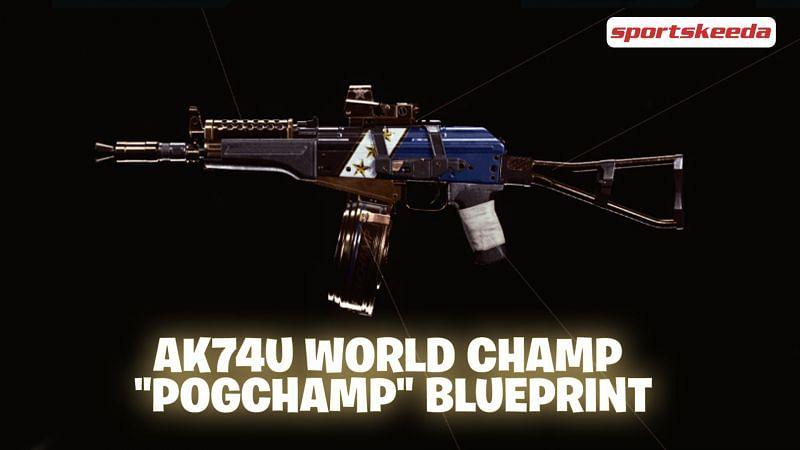 "The AK74u World Champ with ""POGCHAMP"" engraved"