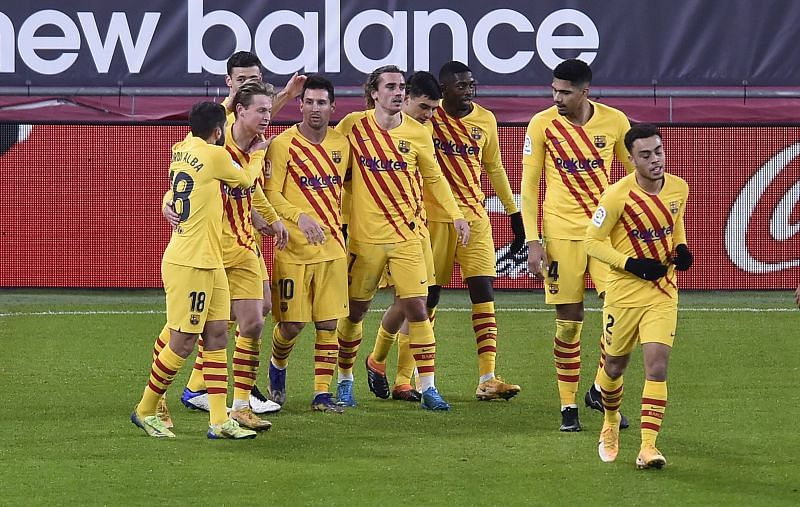 Barcelona edged Athletic Bilbao to a victory