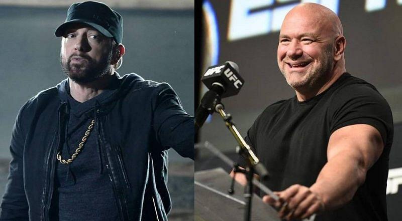 Eminem (left); Dana White (right)
