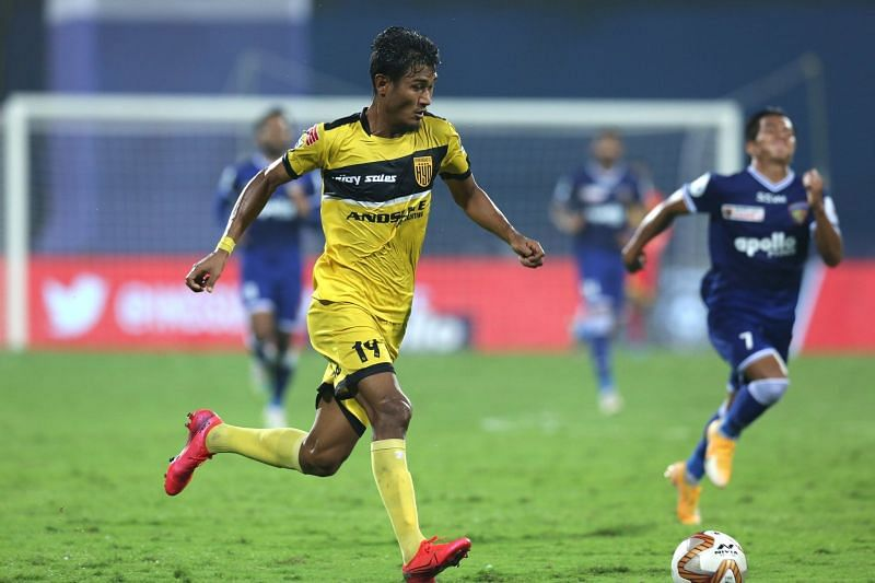Halicharan Narzary has played a crucial part for Hyderabad FC in the ongoing ISL season. (Image: ISL)