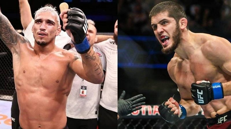Charles Oliveira (left); Islam Makhachev (right)