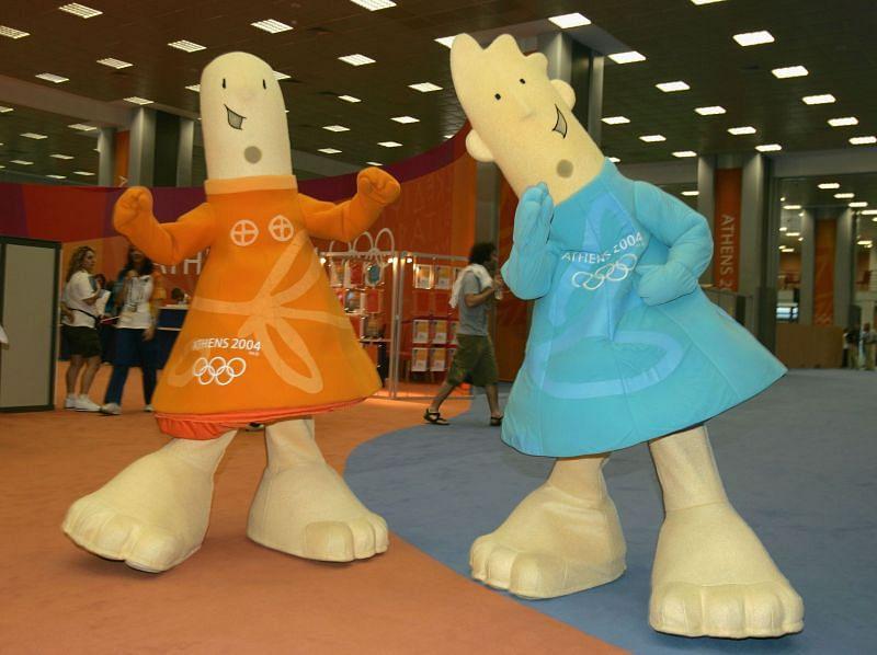 Athena and Phevos at the 2004 Athens Olympics.