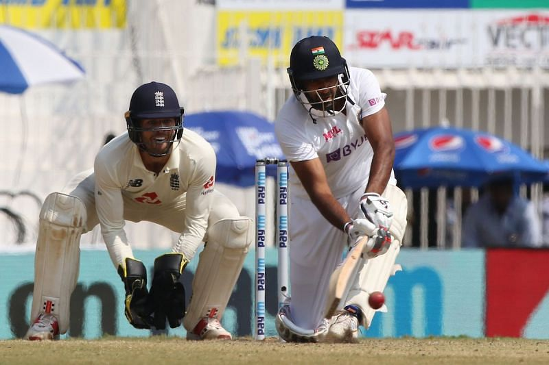 Ashwin swept and reverse swept confidently