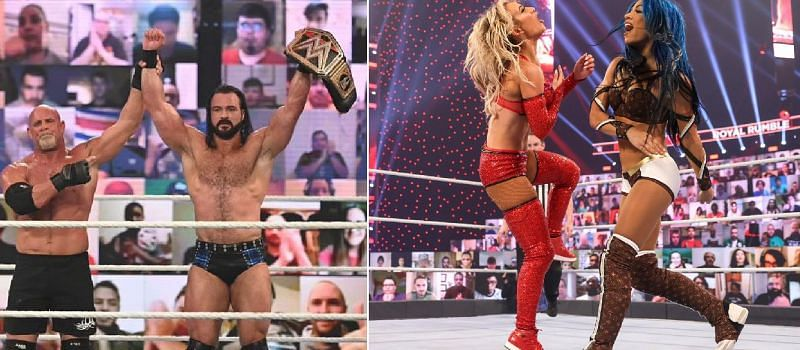 There were several noticeable botches last night at The Royal Rumble