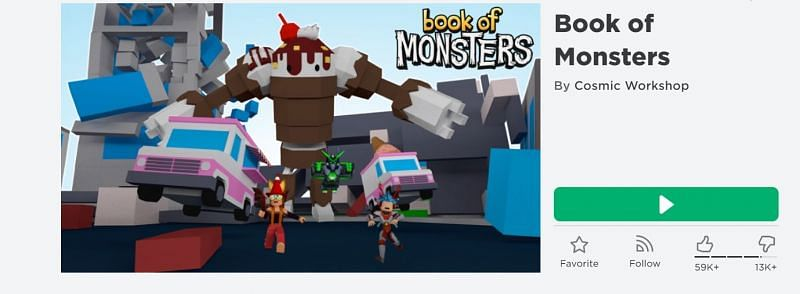 The Book of Monsters game on Roblox (Image via Roblox.com)