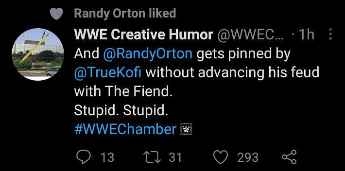 Randy Orton likes tweet slamming WWE for his current booking