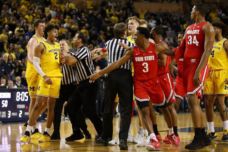 The Michigan Wolverines and the Ohio State Buckeyes will face off at the Value City Arena on Sunday afternoon