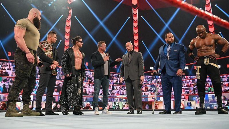 WWE Raw में ब्रॉन स्ट्रोमैन और बॉबी लैश्ले ने WWE चैंपियनशिप मैच की मांग की