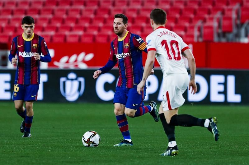 Barcelona suffered a 2-0 defeat to Sevilla in the first leg of the Copa del Rey semi-final.