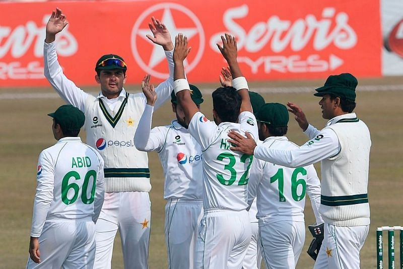 Pakistan celebrate a famous series win against South Africa.